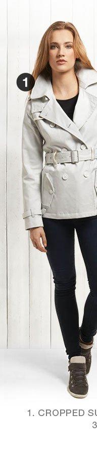 cropped super raincoat