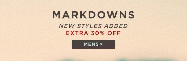 Mens Markdowns 30% off