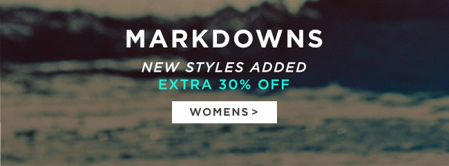 Womens markdowns 30% off