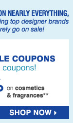 The Goodwill® Sale. Just for you! Get  started with TWO EXCLUSIVE COUPONS. Plus, donate in-store to earn  additional coupons! Save up to an extra 25% on regular and sale price  merchandise OR save 15% on cosmetics & fragrances** Shop now.