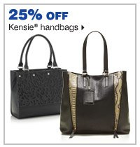 25% off Kensie® handbags.