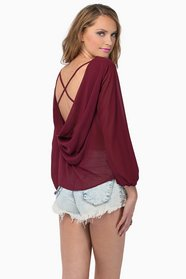 Madeline X Back Blouse $32