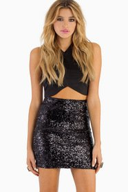 Be Seen Sequin Pencil Skirt $39