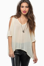 Slit and Slide Blouse $28