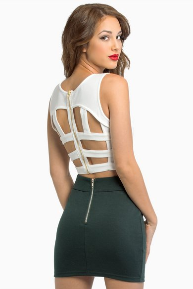 Cut Out Crop Top $39