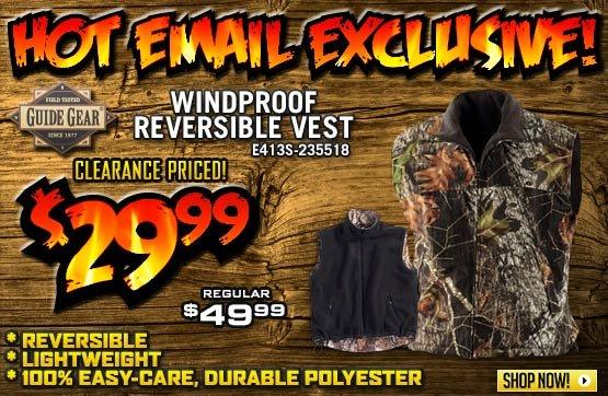 Guide Gear® Windproof Reversible Vest