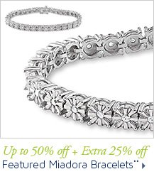 Up to 50% off + Extra 25% off Featured Miadora Bracelets**