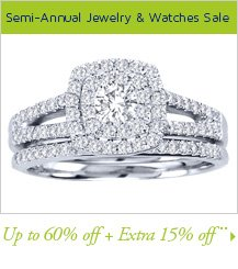 Semi-Annual Jewelry & Watches Sale Up to 60% off + Extra 15% off**