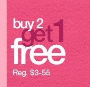 Buy 2 Get 1 Free (Reg $3-55)