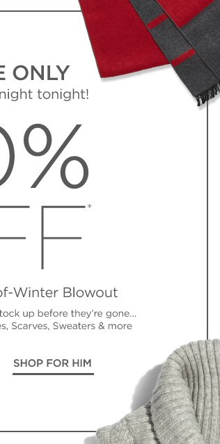 80% off End-of-Winter Blowout
