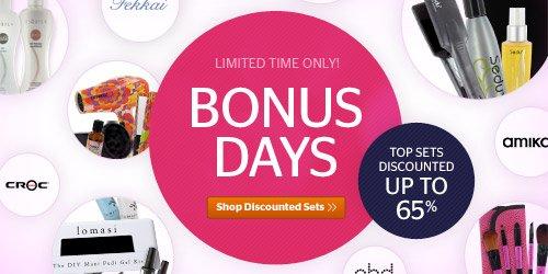Bonus Value Days! Up to 65% off
