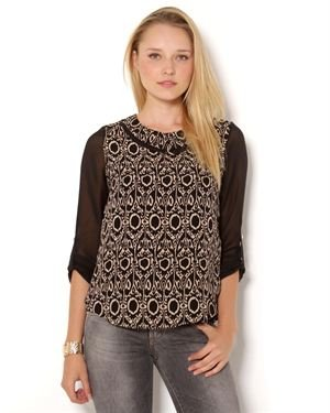 Rachel Kate Two Tone Blouse - Made in USA