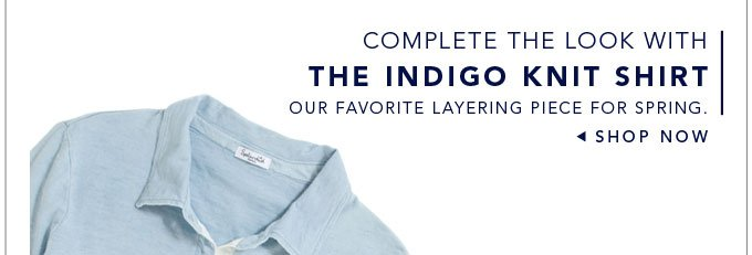 The Indigo Knit Shirt - Shop Now