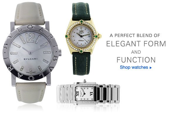 A PERFECT BLEND OF ELEGANT FORM AND FUNCTION Shop watches