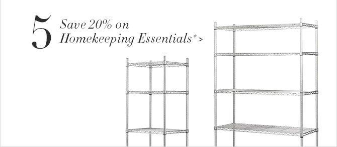 5. Save 20% on Homekeeping Essentials *