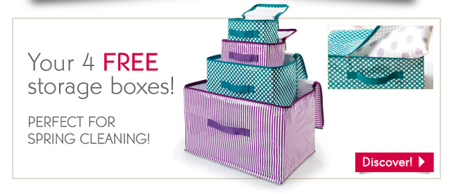 YOUR 4 FREE STORAGE BOXES!