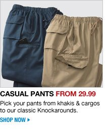 shop casual pants from 29.99