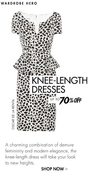 KNEE LENGTH - UP TO 70% OFF