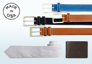 Made in USA: Belts, Ties & More