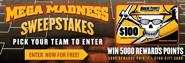 Enter The Mega Madness Sweepstakes For Free!