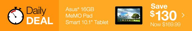 ASUS 16GB MeMO Pad Smart 10.1 inch Tablet. Save 130. Now $169.99.