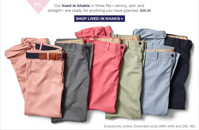 SHOP LIVED–IN KHAKIS