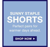 SUNNY STAPLE SHORTS | SHOP NOW