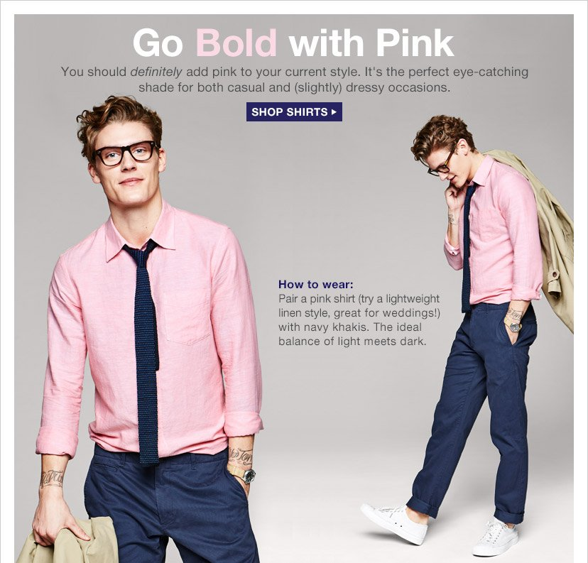 Go Bold with Pink | SHOP SHIRTS