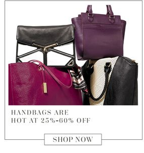 Handbags are hot at 25%-60% off. Shop Now.