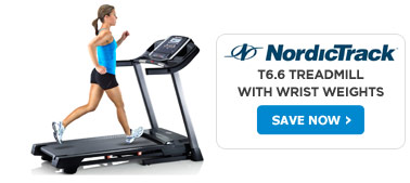 Nordic Track T6.6 Treadmill With Wrist Weights