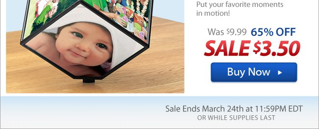 Flash Sale: Spinning Photo Cube Now 65% Off!