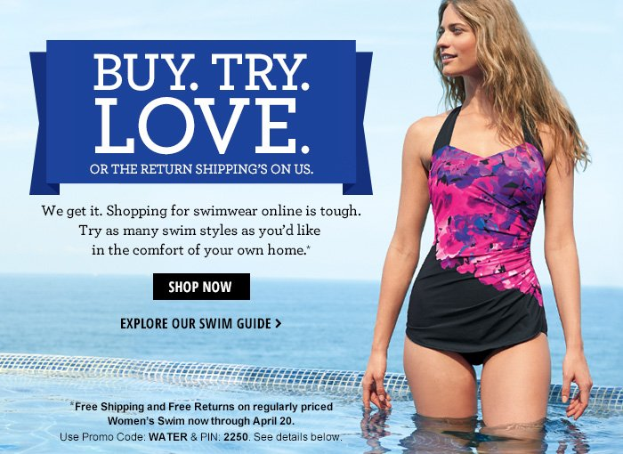 We're so sure you'll love it - Free Shipping both ways!