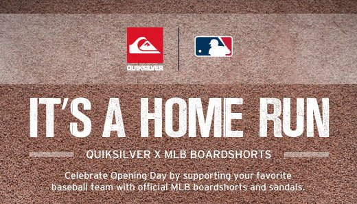 It's A Home Run. Quiksilver X MLB Boardshorts