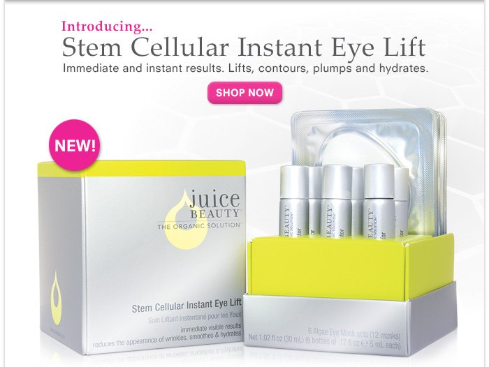 New: Stem Cellular Instant Eye Lift - Lifts, Contours, Plumps and Hydrates