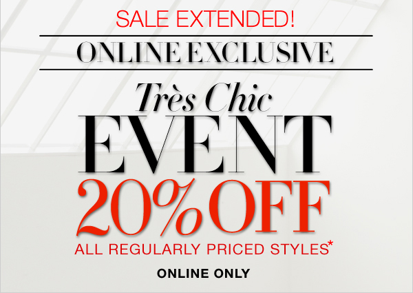 SALE EXTENDED!