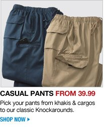casual pants from 39.99 - shop now