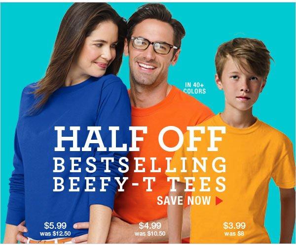 Shop Half Off Bestselling Beefy-T Tees
