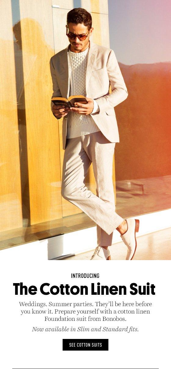 Introducing the Cotton Linen Suit