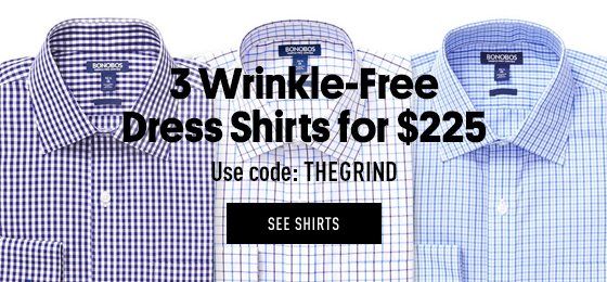 3 Wrinkle-Free Dress Shirts for $225