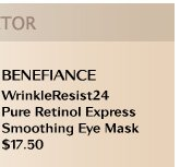 BENEFIANCE WrinkleResist24 Pure Retinol Express Smoothing Eye Mask $17.50