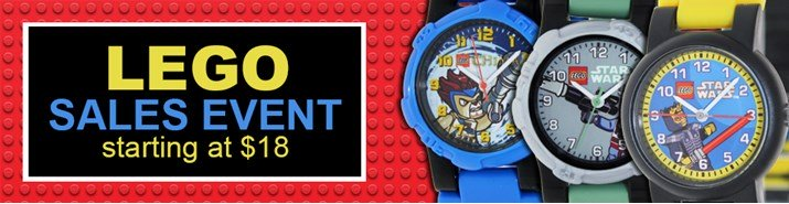 Save up to 33% during the Lego watches sales event