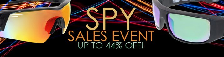 Save up to 44% during the Spy sunglasses sales event