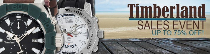 Save up to 75% during the Timberland watches sales event