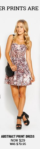 Abstract Print Dress Now $29 Was $79.95