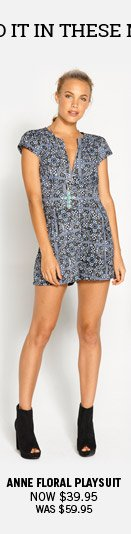 Anne Floral Playsuit Now $39.95 Was $59.95