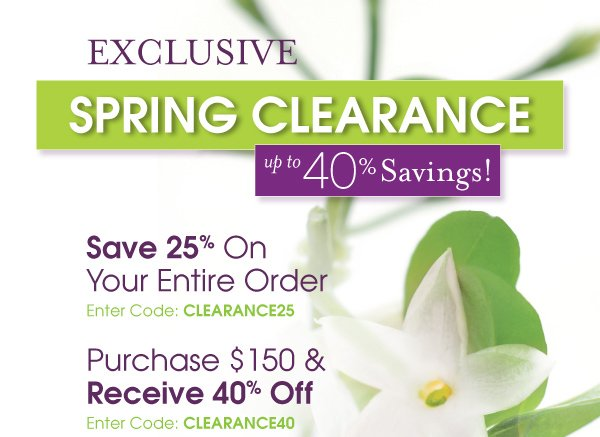 Exclusive Spring Savings