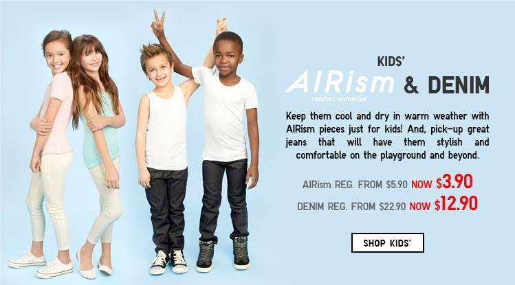 SHOP KIDS' AIRISM AND DENIM*