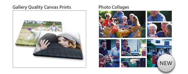 Canvas Prints & Photo Collages!