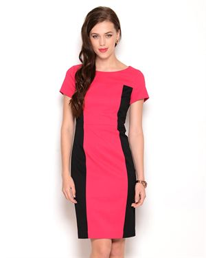 Jones New York Two-Tone Color Block Dress