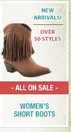 Womens Short Boots